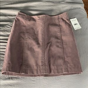 Free People Faux Leather Mauve Mini Skirt NWT